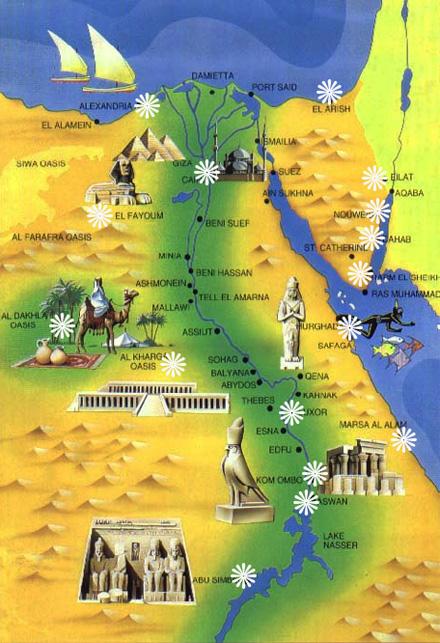 Luxor Tours The Magic Of Egypt - Map of egypt marsa alam